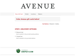 Avenue Medfield gift card balance check