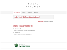Basic Kitchen gift card balance check