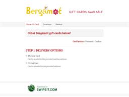 Bergamot gift card balance check