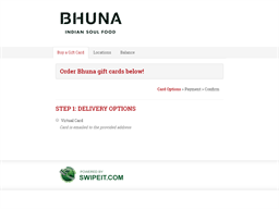 Bhuna gift card purchase