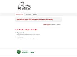 Bistro on the Boulevard gift card balance check
