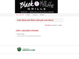 Black and White Grille gift card purchase