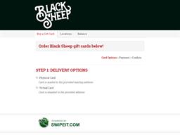 Black Sheep gift card balance check