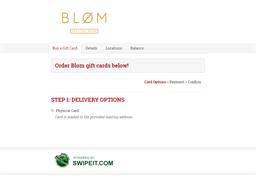 Blom gift card balance check