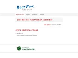 Blue Door Farm Stand gift card balance check