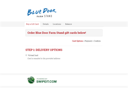 Blue Door Farm Stand gift card purchase