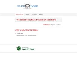 Blue Door Kitchen & Garden gift card balance check