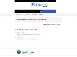 Boomer Boston gift card balance check