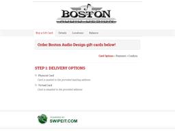 Boston Audio Design gift card balance check