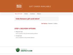 Botanero gift card balance check