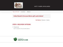 Bread & Circuses Bistro gift card balance check