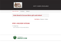 Bread & Circuses Bistro gift card purchase