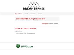 BRENNER PASS gift card balance check