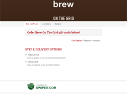 Brew On The Grid gift card balance check