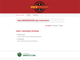 Brew Burgers gift card purchase