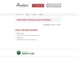 Broders' Restaurants gift card balance check