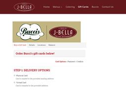 Bucci's gift card purchase