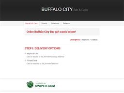 Buffalo City Bar gift card balance check