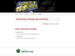Bumper to Bumper gift card balance check