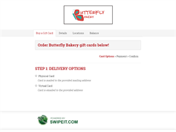 Butterfly Bakery gift card balance check