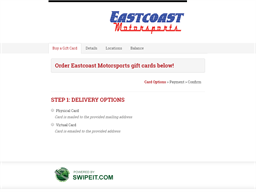 Eastcoast Motorsports gift card balance check
