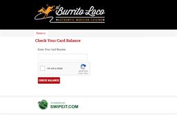 el Burrito Loco gift card purchase