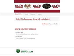 Eli's Brick Oven gift card balance check