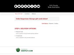 Emporium Chicago gift card balance check