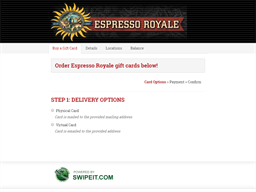 Espresso Royale gift card purchase
