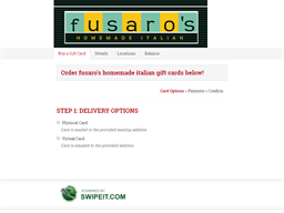 fusaro's homemade italian gift card purchase