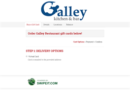 Galley Restaurant gift card balance check