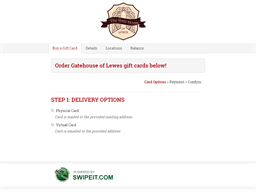 Gatehouse of Lewes gift card balance check