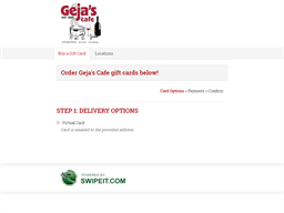 Geja's Cafe gift card purchase
