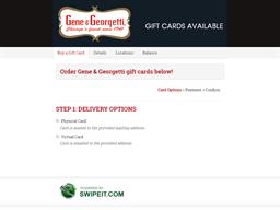 Gene & Georgetti gift card balance check