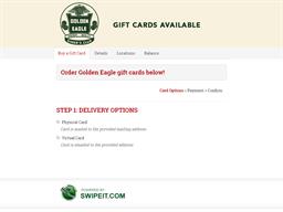 Golden Eagle gift card balance check