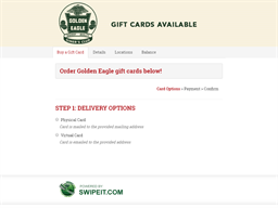Golden Eagle gift card purchase