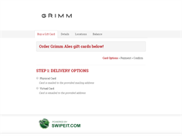 Grimm Ales gift card purchase