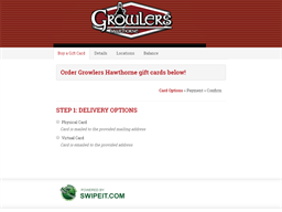 Growlers Hawthorne gift card balance check