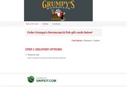 Grumpy's Restaurant & Pub gift card purchase