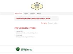 Indulge Bakery & Bistro gift card balance check