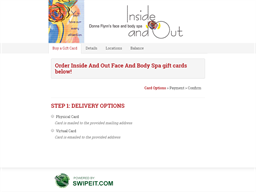 Inside And Out Face And Body Spa gift card balance check