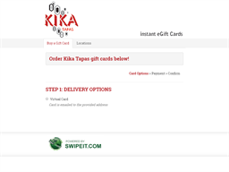 Kika Tapas gift card purchase