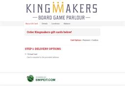Kingmakers gift card balance check