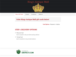 Kings Antique Mall gift card purchase