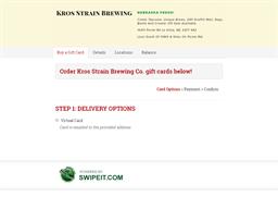 Kros Strain Brewing Co. gift card balance check