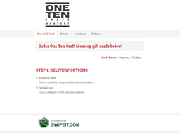 One Ten Craft Meatery gift card balance check