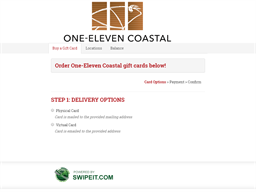 One-Eleven Coastal gift card purchase