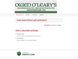 Owen O'leary's gift card balance check