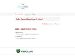 Oyster Club gift card balance check