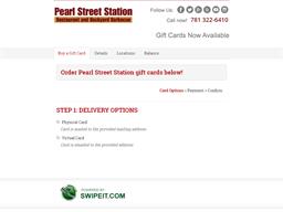 Pearl Street Station gift card balance check